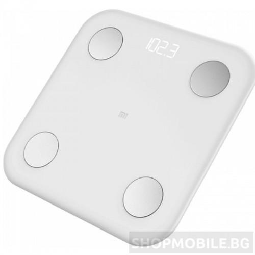Кантар, Xiaomi Mi Body Composition Scale 2, Интелигентен, до 150 кг, Bluetooth връзка, Закалено стъкло, Body Fat, BMI, App