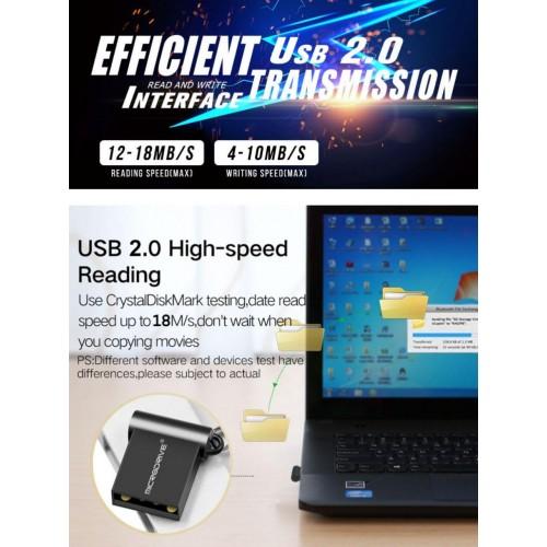 Супер малка флаш памет 32 GB черна