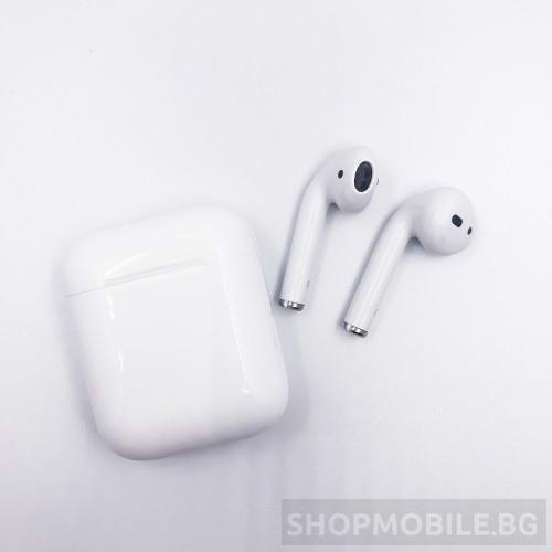 Безжични слушалки i18 AirPods  Bluetooth 5.0 с тъч контрол, 3D звук и безжично зареждане