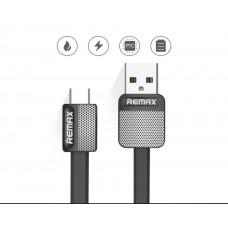 Плосък кабел с метално USB за APPLE устройства марка REMAX