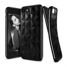Луксозен черен 3D диамантен калъф
