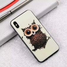 Мек силконов кейс с кафяв бухал за Iphone 7+/8+