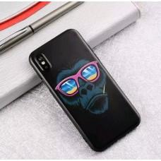 Мек силконов кейс с маймуна за Iphone 7+/8+