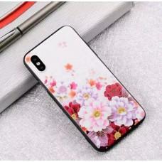 Мек силконов кейс на цветя за Iphone 7/8