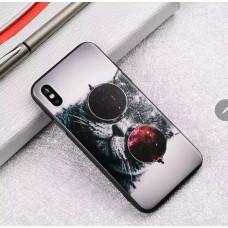 Мек силконов кейс с коте с очила за Iphone X/XS