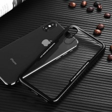 Прозрачен гръб с цветна рамка черен за Huawei P Smart